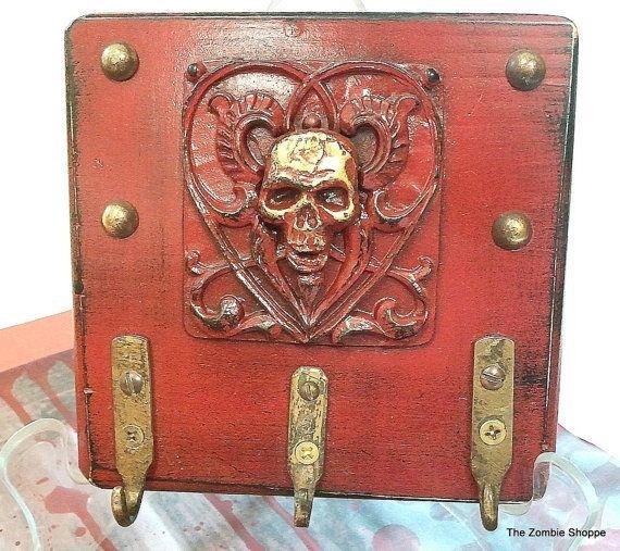 Zombie Key Ring Holder Skull Keychain Holder Wall Decor