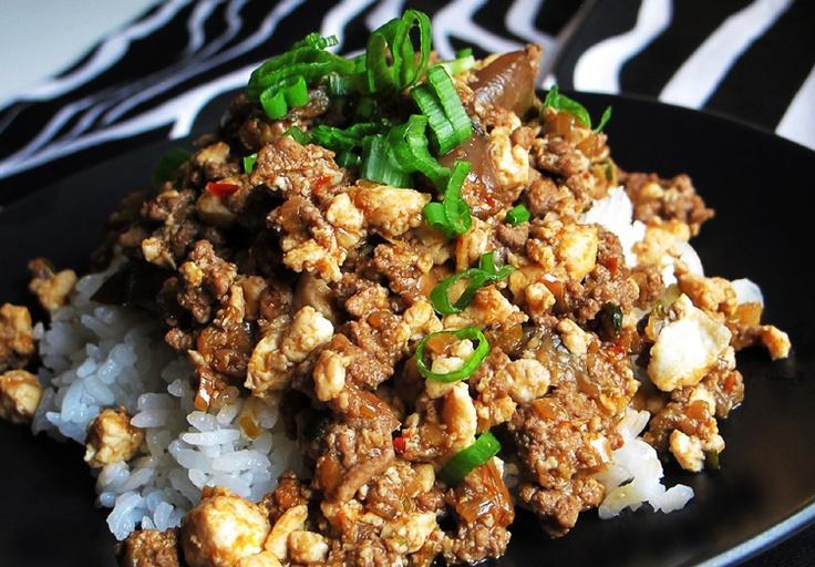 mabo or mapo tofu with eggplant | Korean Cuisine | Pinterest