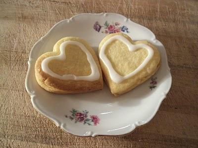 Lemon shortbread valentine cookies | made by me | Pinterest