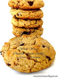 WHOLE WHEAT CHOCOLATE CHUNK COOKIES | COOKIES & BARS | Pinterest