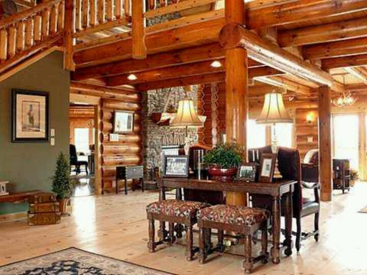 elegant log homes decor pinterest