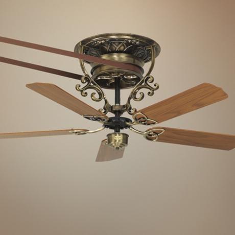 21 fanimation bourbon street belt drive brass ceiling fan - Ceiling fan with pulley system ...