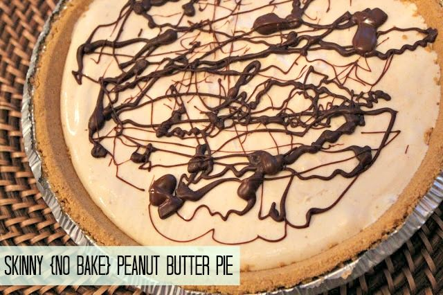 SKINNY NO-BAKE PEANUT BUTTER PIE! {so simple and delicious}