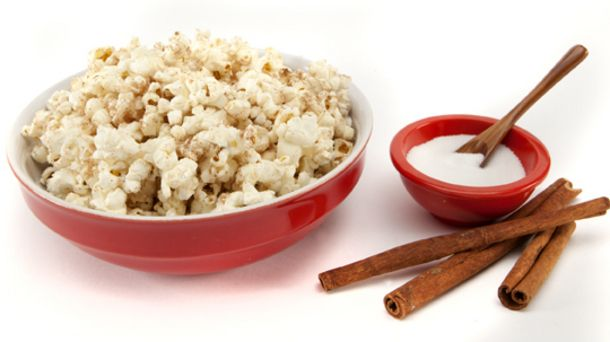 Popcorn with Sugar and Spice Topper | Mary Elaines Recipes | Pinterest