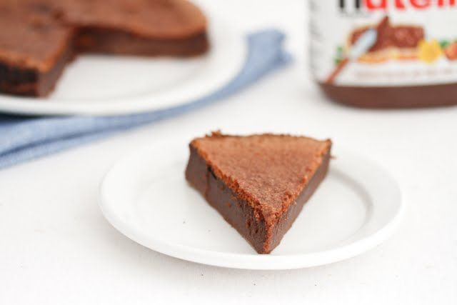 ... Word! 2 Ingredient Flourless Nutella Cake using just Nutella and eggs
