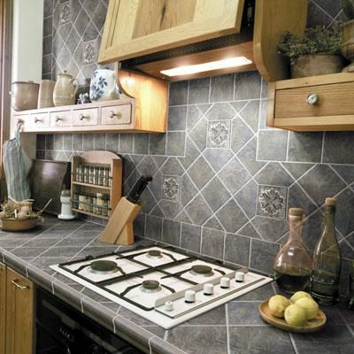 Ceramic tile kitchen countertops pictures