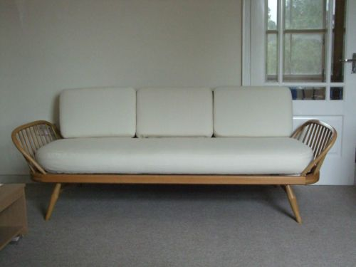 CUSHIONS AND COVERS in cream, FOR ERCOL DAY BED/SOFA STUDIO COUCH