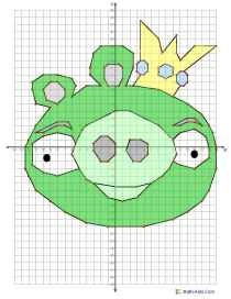 Angry Birds Coordinate Grids!  King Pig