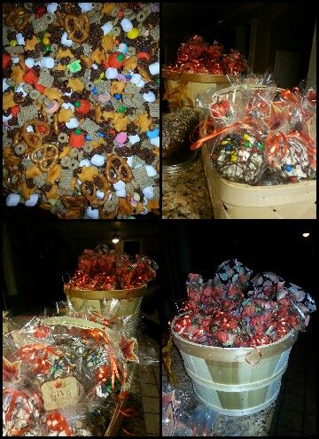 Trail mix, and candy coated popcorn balls for kollins fall party at ...