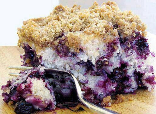 Blueberry buttermilk coffee cake. | FOOD! | Pinterest
