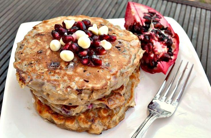 Pomegranate White Chocolate Pancakes: 6 large pancakes, 200 calories ...