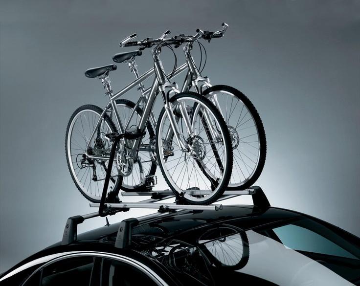 Bagażnik dachowy na rowery ze stalowymi belkami
