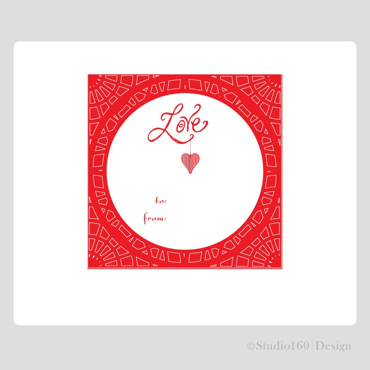 valentine gift tags printable
