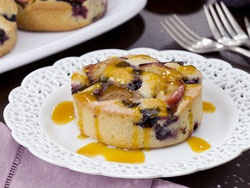 Mr. Food - Blueberry and Plum Cornmeal Cakes