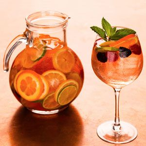 White Greenhouse Sangria | Cocktails | Pinterest