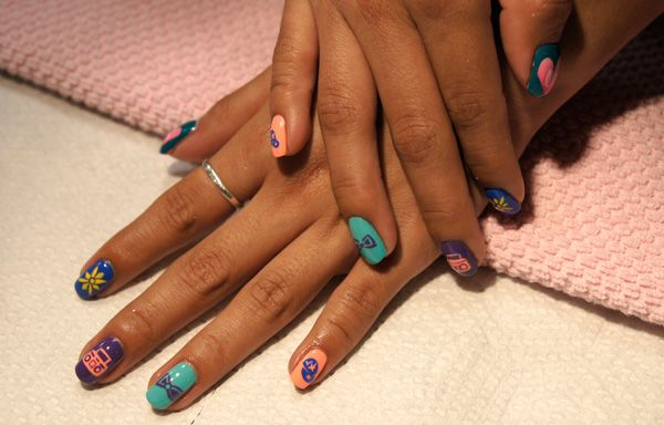 Little Mix nail art #nail #art #beauty