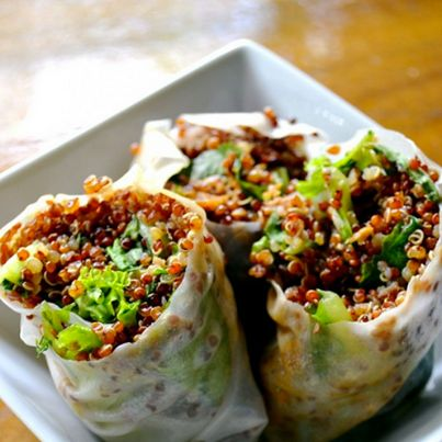 ... sesame ginger quinoa spring rolls tonight! Check out Natural Health