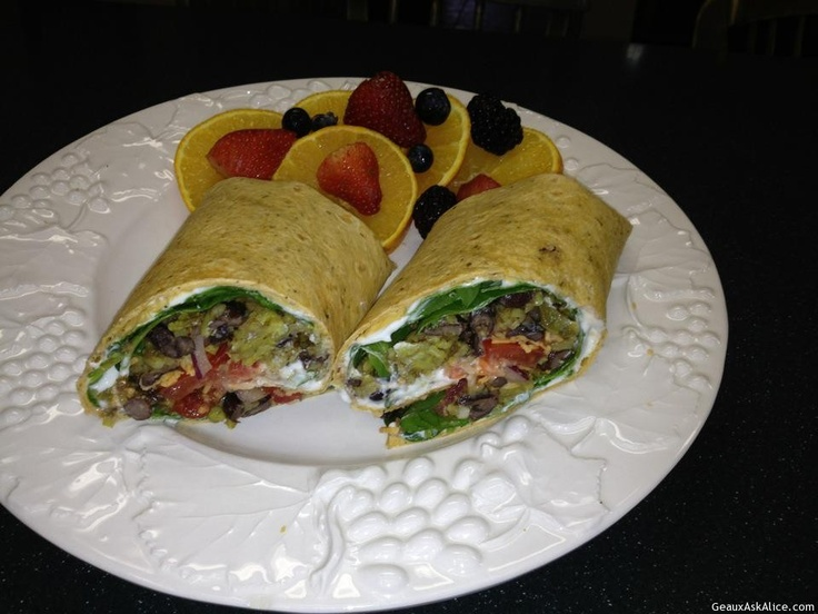 Black Bean and Yellow Rice Wrap | Food And Drink | Pinterest