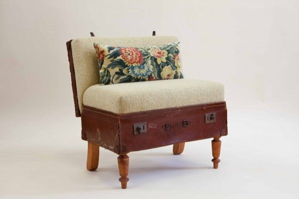 Upcycled suitcase furniture for Furniture upcycling course