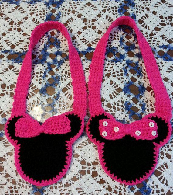 Free Crochet Mickey Mouse Purse Pattern : Minnie Mouse Childs Crochet Purse