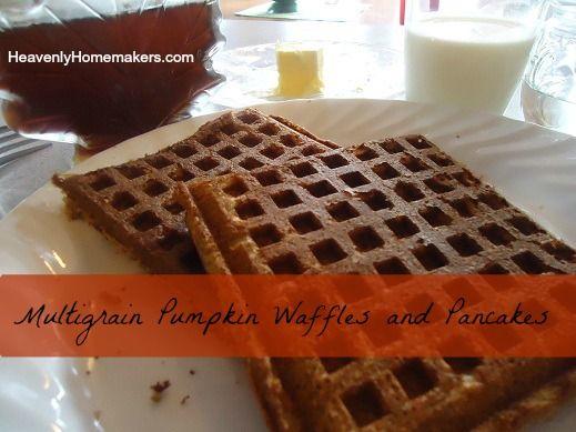 Multigrain Pumpkin Waffles and Pancakes | Breakfast Recipes | Pintere ...