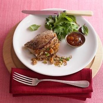 Pork Chops with Bulgur Stuffing Recipe | Pork-in Around | Pinterest
