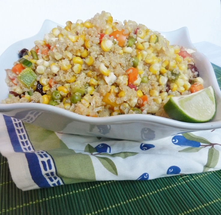 Grilled Corn and Veggie Quinoa Salad | Two Saucy Sisters Recipes | Pi ...