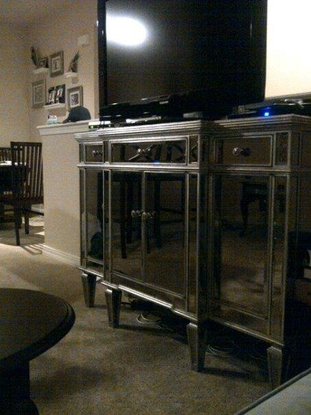 Mirrored Tv Stand Bedroom Want At Home Pinterest