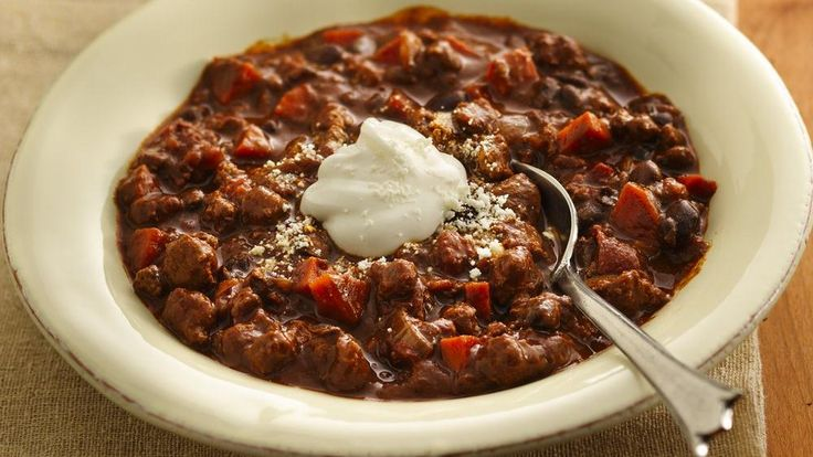 ... black beans and broth that get this tasty chili off to a quick start