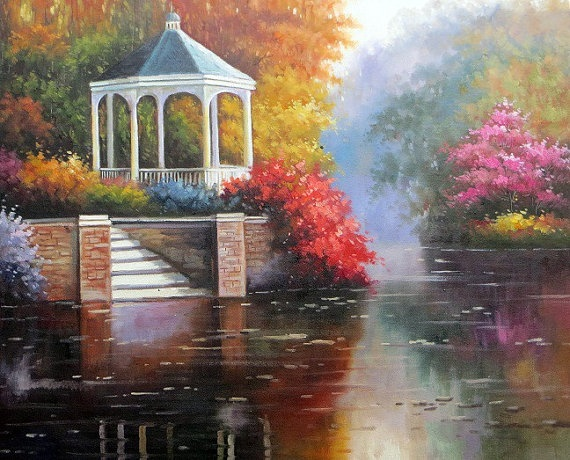 Beautiful landscape oil painting on canvas modern art for Beautiful canvas painting