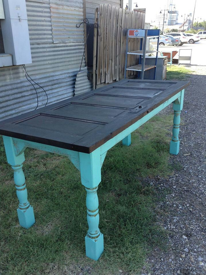 Pin by brian gallagher on creations repurposed pinterest - Make a table from an old door ...