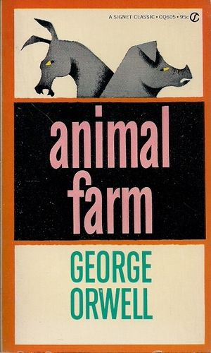 a symbolical political satire in the animal farm by george orwell The meaning of political satire explained with apt examples as you open a newspaper, you see a little cartoon strip in a corner  animal farm by george orwell.