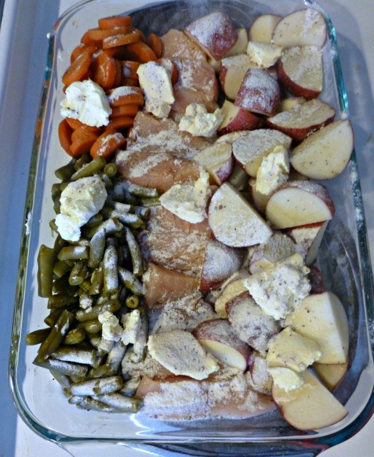 One Dish Chicken, Potatoes, and Veggies | Recipes | Pinterest
