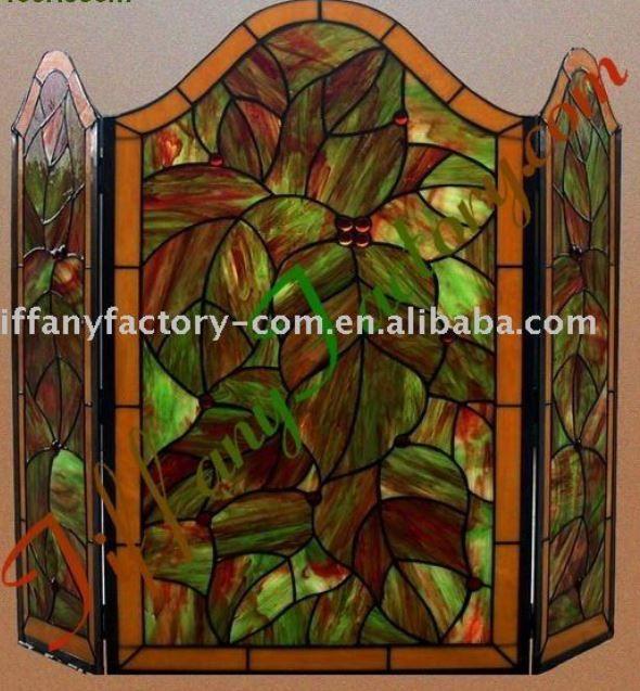 Stained glass fire screen stained glass fire screens pinterest