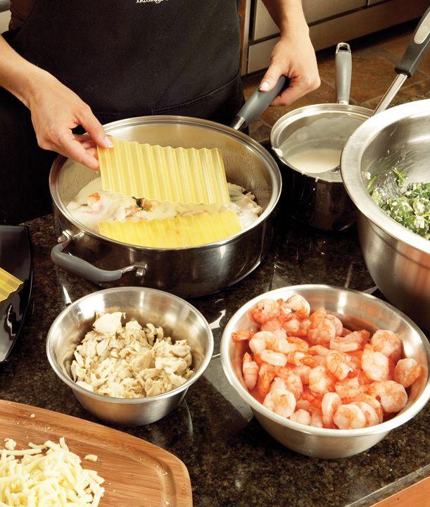 seafood lasagna | I Seafood | Pinterest