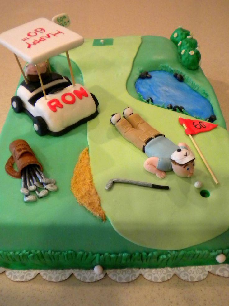 Golf birthday cake Birthday Cakes Pinterest