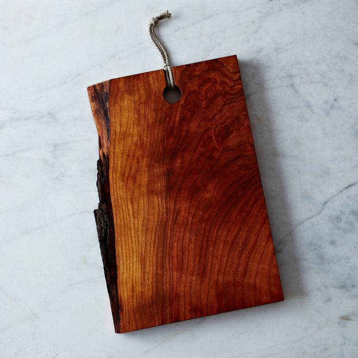 Live edge domestic wood serving cutting board