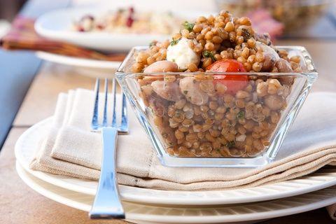 Farro white bean salad | HEALTHY SALADS | Pinterest