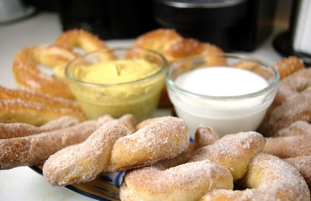 Whoa. Best pretzel recipe I've tried so far. This is take three - it really does taste like Auntie Annes. I love that my mixer did the work, and I made bites instead of full size. Ah-mazing.
