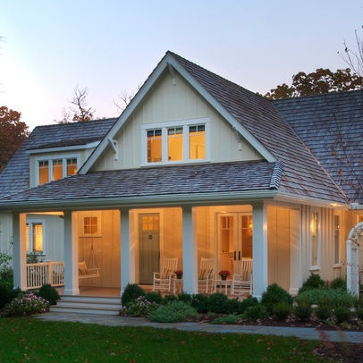 Cottage style home exteriors pinterest for Cottage style house plans with front porch