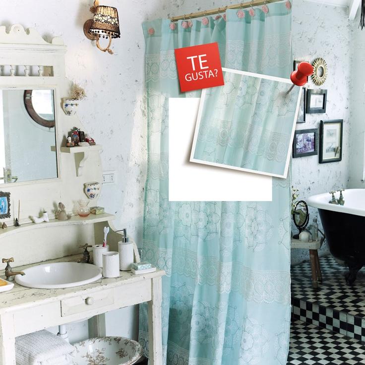 Cortinas De Baño Karin Cohen:Cortina de baño, ¿Te gusta? Participa por uno http://eresripleycl/