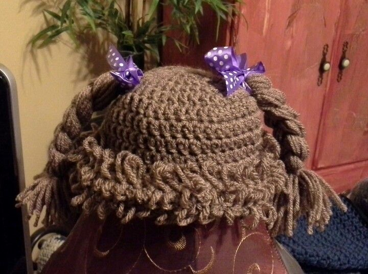 Free Pattern Crochet Cabbage Patch Hat : Cabbage patch crochet hat Crochet & Knitting Projects ...