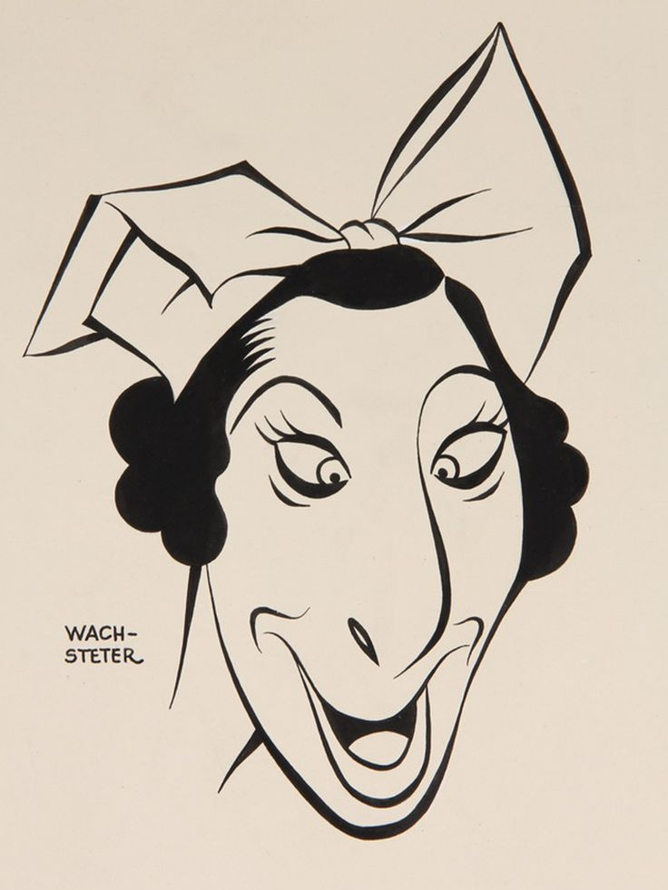 Fanny Brice by George Wachsteter | Dizzy Cartoons | Pinterest: pinterest.com/pin/165577723773102754