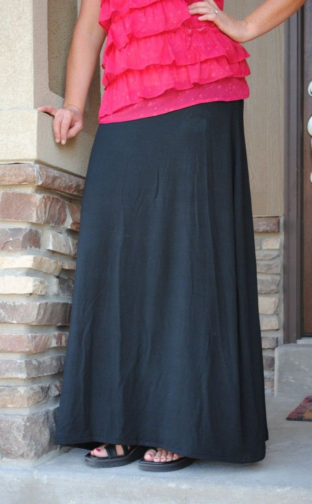 sew your own maxi skirt it s easy