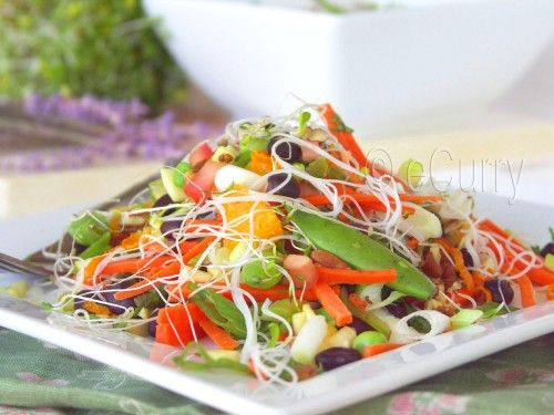 Summer Salad with Citrusy Lavender Dressing