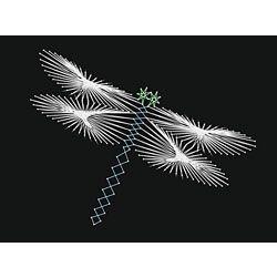 Free Printable String Art Patterns | String Art Fun Dragonfly Pattern