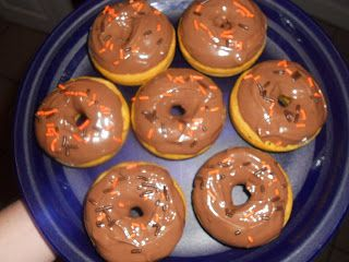 Baked Pumpkin Spice Donuts with Chocolate Glaze