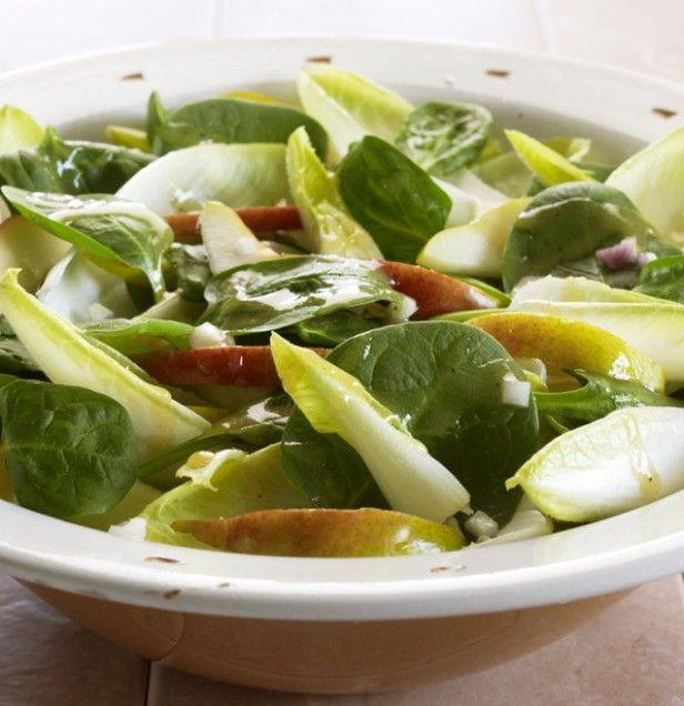 Spinach, Pear, and Endive Salad | Recipe