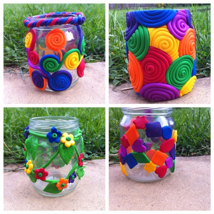 fimo clay jars