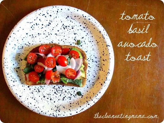 Tomato Basil Avocado Toast | Veggie love | Pinterest